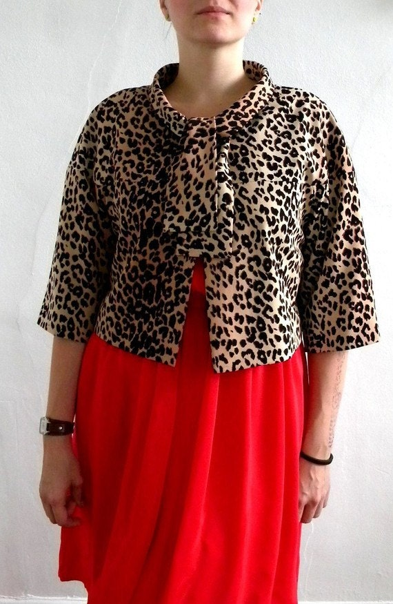 Leopard print jacket Custom made to fit your body