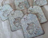 Acorn Gift Tags - Vintage Inspired - Set of 6 Tags