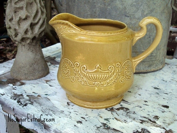 Regency Ironstone Pitcher - Canonsburg Pottery - VINTAGE - Perfect Condition