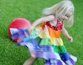 Over the Rainbow Patchwork Twirl Dress
