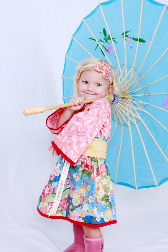 Butterfly Blossoms Kimono Style Dress
