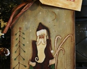 Santa Bread Board
