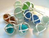 Sea Glass Jewelry - Stud Earrings - For the Discriminating Beach Bum