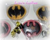 Batman Chocolate Lollipop Birthday Party Favors Set of 40
