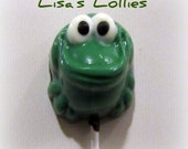 Frog Chocolate Lollipop Party Favor  Set of 24
