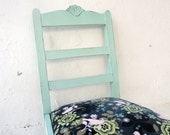 40% DISCOUNT Upcycled Green Vintage Chair