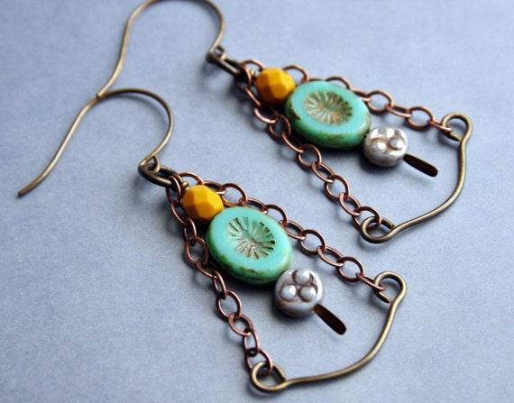 Bohemian Chandelier Earrings - Sway Chandelier Earrings