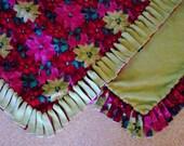 Fleece Blanket - Holiday - Poinsettias