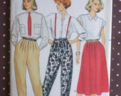 Vintage 1980s Sewing Pattern - Butterick 3343 - Misses' Pants And Skirt (Size 14-16-18)