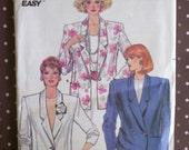 Vintage 1980s Sewing Pattern - Butterick 3637 - Misses' Jacket (Size 14-16-18)