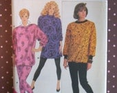 Vintage 1980s Sewing Pattern - Butterick 4238 - Misses' Top And Pants (Size L-XL)