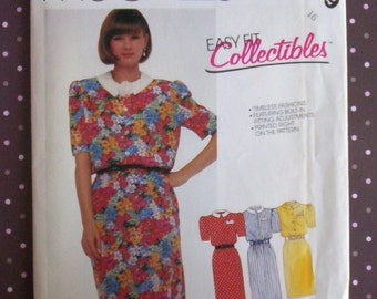 Vintage 1980s Sewing Pattern - McCall's 2409 - Misses' Dress (Size 16) - Sewing Supplies