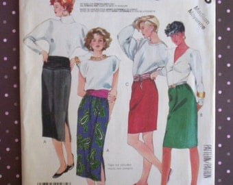 Vintage 1980s Sewing Pattern - McCall's 2585 - Misses' Skirt And Hip Band (Size Medium) - Sewing Supplies