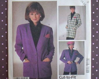 Vintage 1980s Sewing Pattern - McCall's 2727 - Misses' Cardigan (Size 12-14-16) - Sewing Supplies