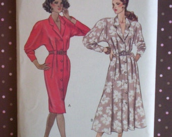 Vintage 1980s Sewing Pattern - Butterick 3096 - Misses' Dress (Size 12-14-16) - Sewing Supplies