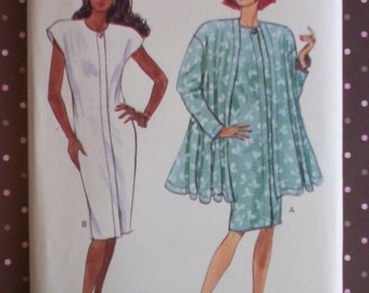 Vintage 1980s Sewing Pattern - Butterick 3097 - Misses' Jacket And Dress (Size 14-16-18) - Sewing Supplies