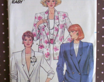 Vintage 1980s Sewing Pattern - Butterick 3637 - Misses' Jacket (Size 14-16-18) - Sewing Supplies