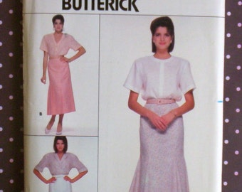 Vintage 1980s Sewing Pattern - Butterick 3693 - Misses' Skirt (Size 14-16-18) - Sewing Supplies