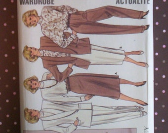 Vintage 1980s Sewing Pattern - Butterick 4113 - Misses' Jacket, Skirt, Pants And Blouse (Size 14-16-18) - Sewing Supplies