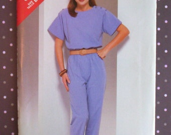 Vintage 1980s Sewing Pattern - Butterick 5557 - Misses' Jumpsuit (Size 12-14-16) - Sewing Supplies