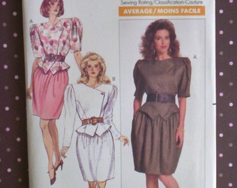 Vintage 1980s Sewing Pattern - Butterick 6151 - Misses' Top And Skirt (Size 16) - Sewing Supplies