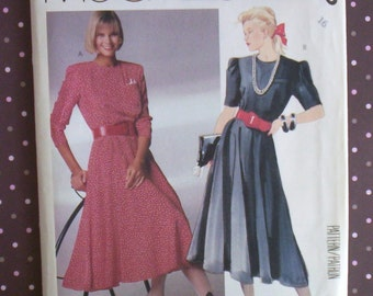 Vintage 1980s Sewing Pattern - McCall's 3265 - Misses' Dress (Size 16) - Sewing Supplies