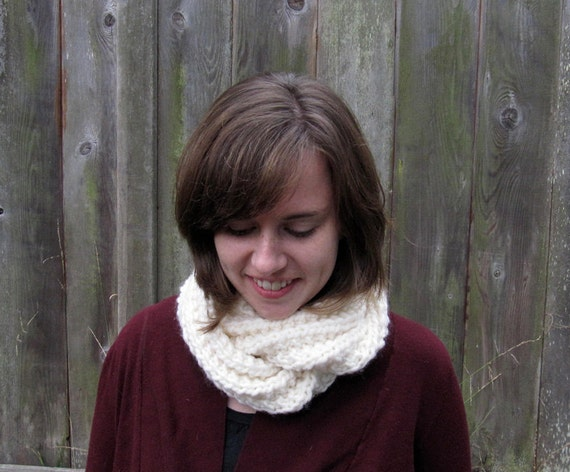 Soft knit twisted cowl - you pick the color