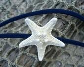 Starfish Navy Blue Thin Stretch Headband-Knobby Starfish