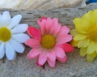 Flower Hair Clips Floral Hair Clips-Set of 3 Daisy Flower Bobby Pins, Spring, Easter, Summer Weddings, Flower Hair Clips