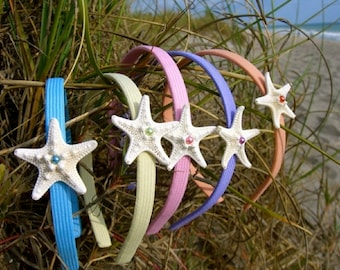 Starfish Headband-Pastels-Choice of color, Beach Weddings, Mermaids, Starfish Accessories, Starfish, Flower Girl, Summer Fun, Vacations