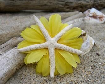 Starfish Floral Hair Clip-YELLOW-Beach Wedding, Starfish Hair, Mermaid, Mermaid Birthday Party, Sea Stars