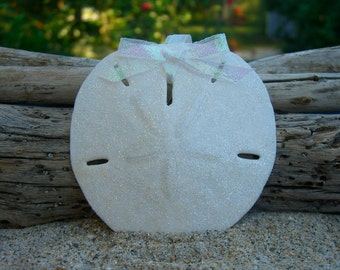 Sand Dollar Christmas Ornaments,Beach Ornament,Sand Dollar Tree Ornament,Coastal Holiday,Nautical Ornament,Beach Wedding Favors,Beach Bride