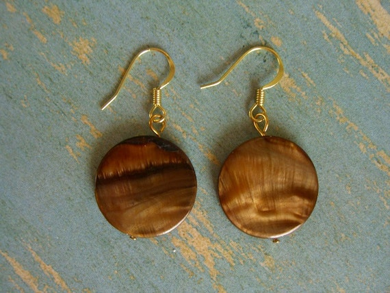 SEASHELL Earrings-Tortoise Shell