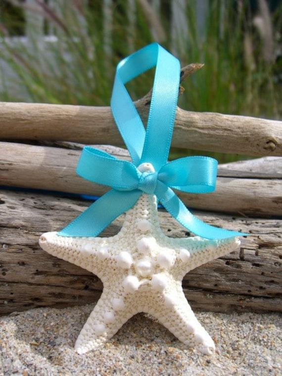 Starfish Ornament Wedding Favors AQUA BLUE Beach Weddings
