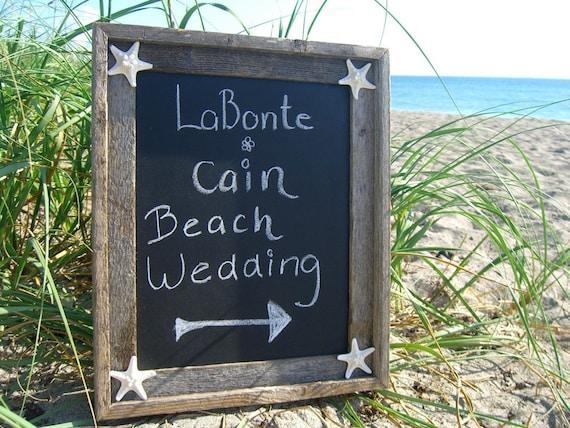 Beach Wedding Decor,Beach Home Decor,Beach Bridal Shower Decor,Wedding Photo Prop,Beach Theme Wedding,Chalkboards,Starfish Decor,Nautical