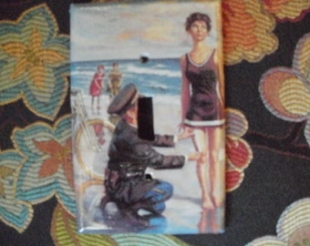 Fashion Police on the Beach Decorative Switchplate Cover