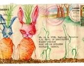 Bunny Carrots Postcard
