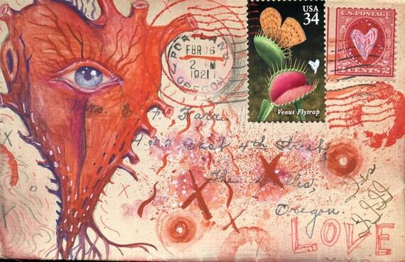 Seeing Heart Postcard