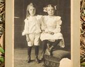 Sibling Portrait - Vintage Cabinet Card