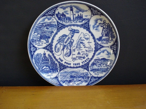 Maine Thing - Vintage Souvenir Plate - Maine Love