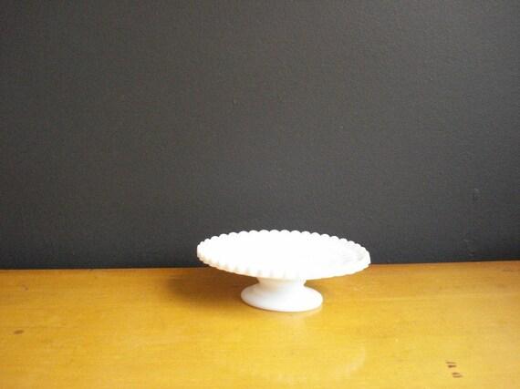 Owl Pedestal - Milkglass Soap Dish - Vintage Owl Milk Glass Dish