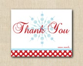 Snowflake Thank You Cards - 24 printed cards with envelope