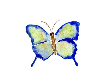 Watercolor Butterfly Prints (set of 4)