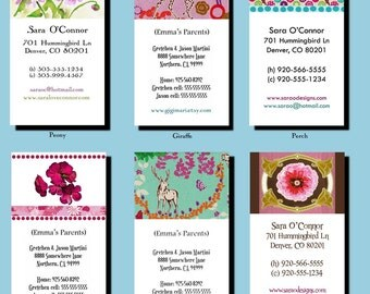 Personal Calling Cards - Printable DIY Many Designs to Choose From