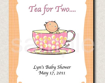 A Baby's Brewing or Tea for Two Shower Gift Labels (12)