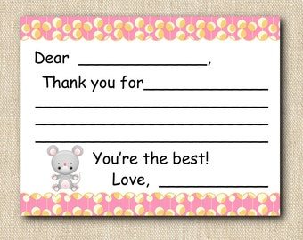 Toddler - Kids - Learn to Write Thank You Cards 16