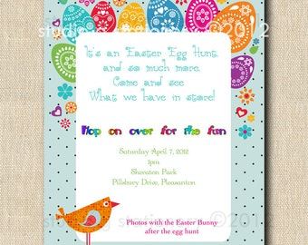 Easter Egg Hunt - 12 printed cards / invitations