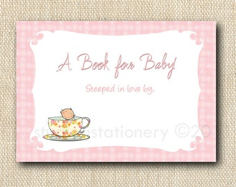 Baby Shower Bookplate - Baby's Brewing and Tea for Two Theme