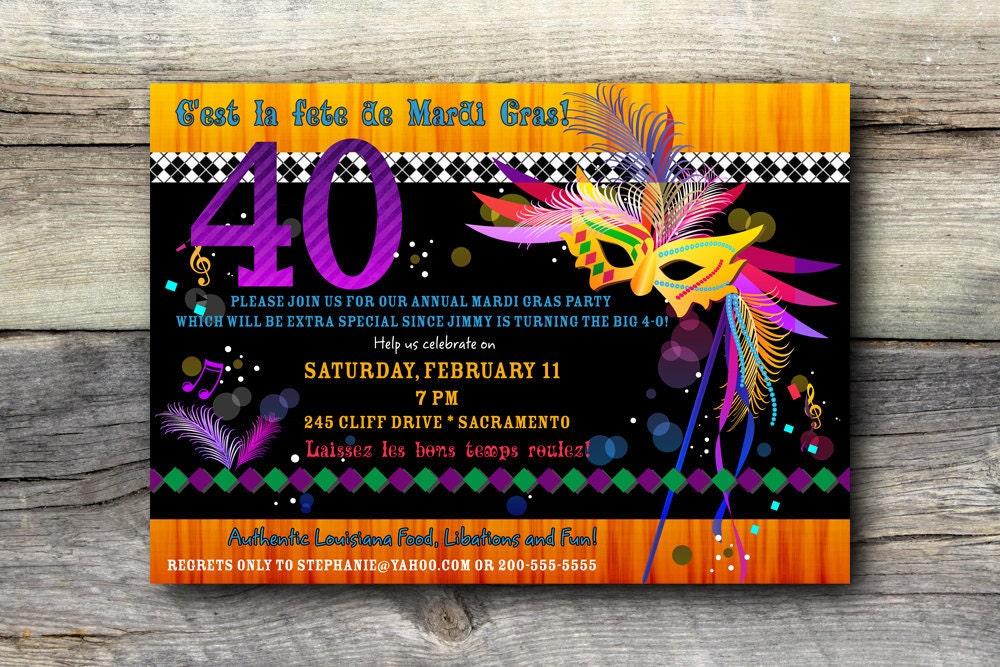 Mardi Gras Birthday Invitations gangcraftnet – Mardi Gras Birthday Invitations
