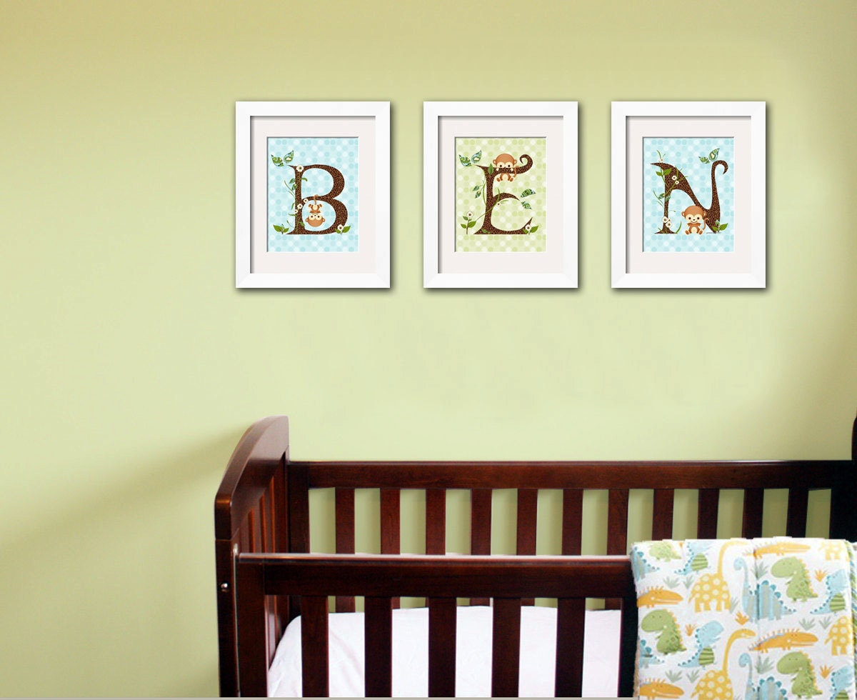 Monkey Wall Art For Nursery - Elitflat